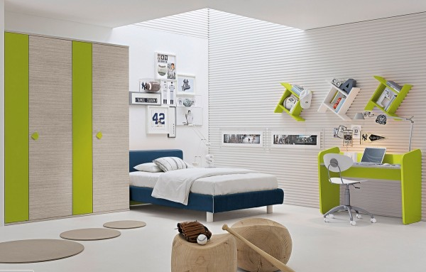 17-Green-white-blue-childrens-room-600x383